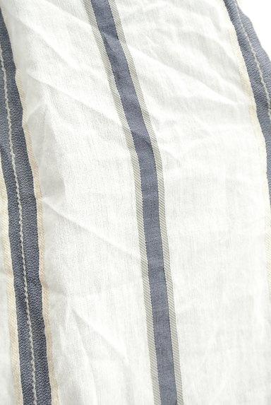 LAUTREAMONT(ロートレアモン)の古着「スキッパーカラーストライプ柄シャツ(カットソー・プルオーバー)」大画像5へ