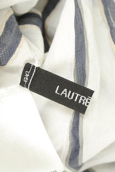 LAUTREAMONT(ロートレアモン)の古着「スキッパーカラーストライプ柄シャツ(カットソー・プルオーバー)」大画像6へ