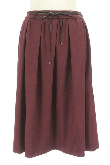 COMME CA DU MODE(コムサデモード)の古着「コードベルト付きタックフレアスカート(スカート)」大画像1へ