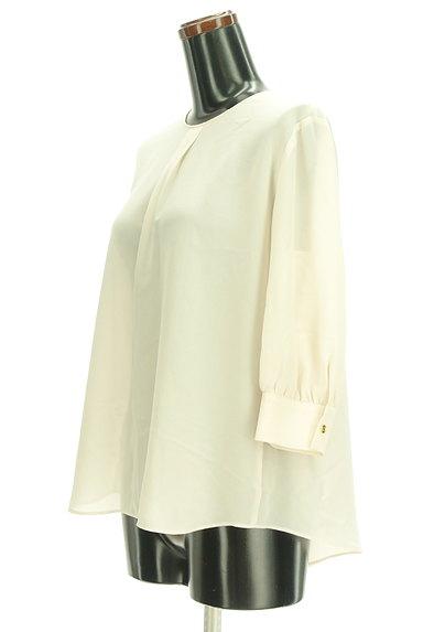 Abahouse Devinette(アバハウスドゥヴィネット)の古着「七分袖タックシフォンブラウス(カットソー・プルオーバー)」大画像3へ