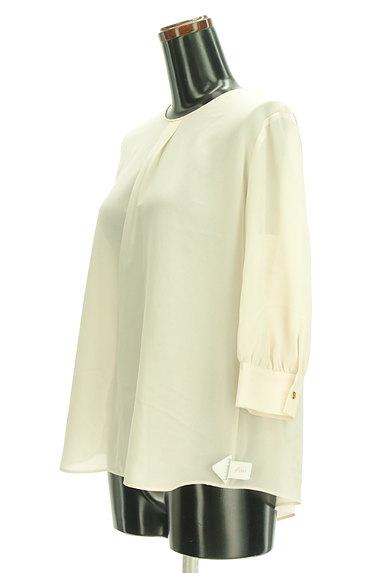 Abahouse Devinette(アバハウスドゥヴィネット)の古着「七分袖タックシフォンブラウス(カットソー・プルオーバー)」大画像4へ