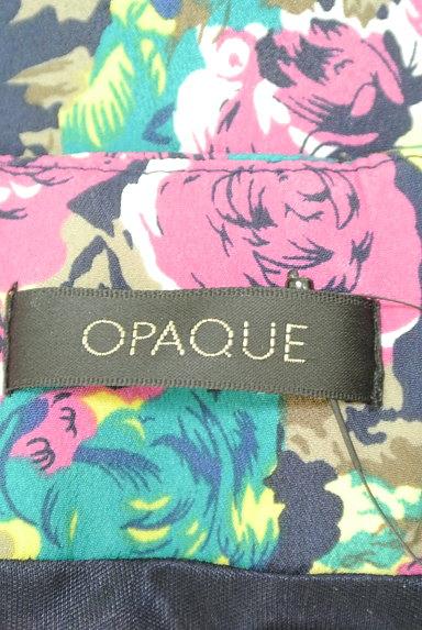 OPAQUE(オペーク)の古着「花柄タックシフォンワンピース(ワンピース・チュニック)」大画像6へ
