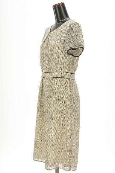 SunaUna(スーナウーナ)の古着「変形ドットシフォンワンピース(ワンピース・チュニック)」大画像3へ