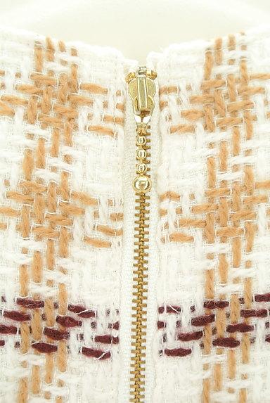PROPORTION BODY DRESSING(プロポーションボディ ドレッシング)の古着「チェック柄起毛ラメワンピース(ワンピース・チュニック)」大画像5へ