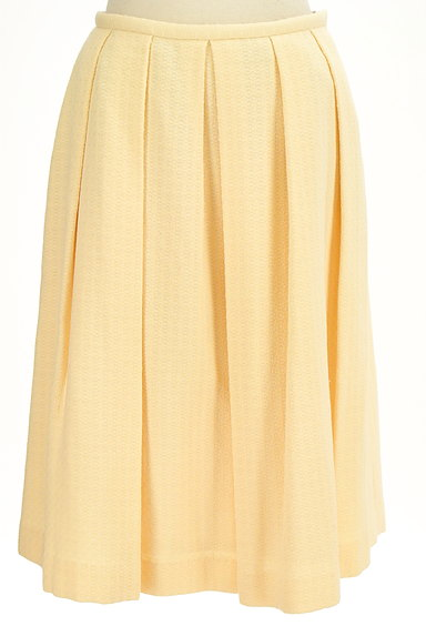 Jocomomola(ホコモモラ)の古着「ワイドプリーツミモレスカート(スカート)」大画像1へ