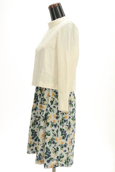 Te chichi(テチチ)の古着「無地×花柄セパレート風ワンピ(ワンピース・チュニック)」大画像3へ