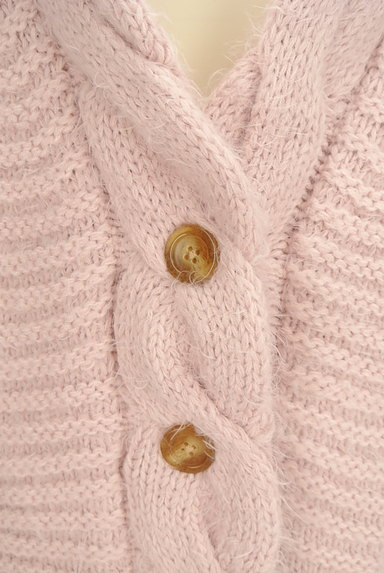 dazzlin(ダズリン)の古着「ケーブル編みワイドカーディガン(カーディガン・ボレロ)」大画像4へ