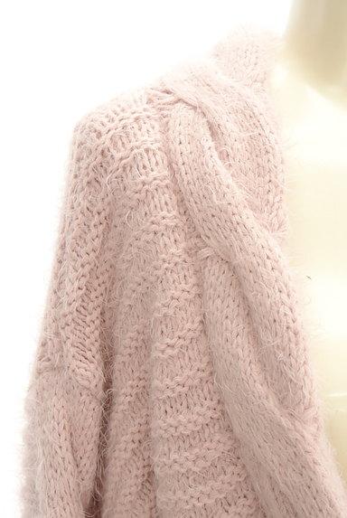 dazzlin(ダズリン)の古着「ケーブル編みワイドカーディガン(カーディガン・ボレロ)」大画像5へ