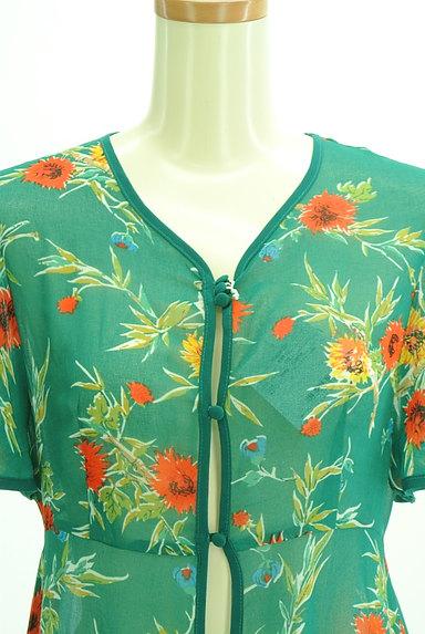 SLY(スライ)の古着「リゾート花柄シアーロングカーディガン(カーディガン・ボレロ)」大画像4へ