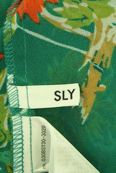 SLY(スライ)の古着「リゾート花柄シアーロングカーディガン(カーディガン・ボレロ)」大画像6へ