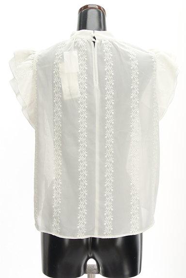 MOUSSY(マウジー)の古着「刺繍シフォンブラウス(カットソー・プルオーバー)」大画像2へ