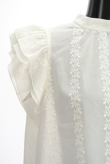MOUSSY(マウジー)の古着「刺繍シフォンブラウス(カットソー・プルオーバー)」大画像4へ
