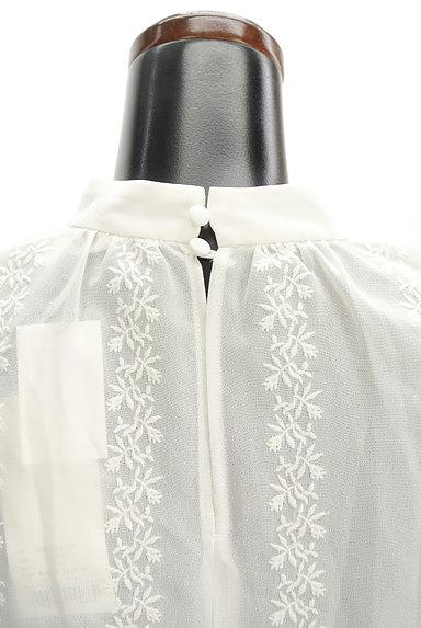 MOUSSY(マウジー)の古着「刺繍シフォンブラウス(カットソー・プルオーバー)」大画像5へ