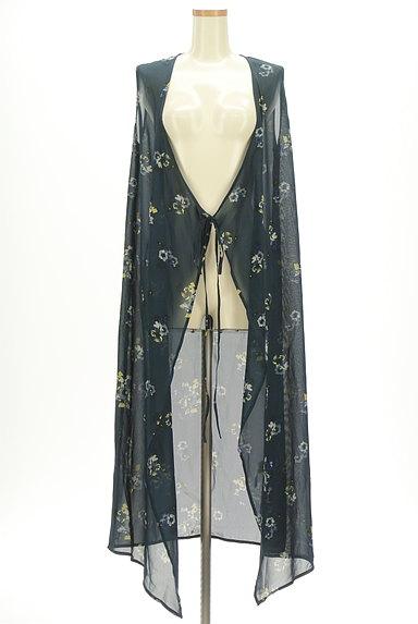 MOUSSY(マウジー)の古着「花柄シアーシフォンカーディガン(カーディガン・ボレロ)」大画像1へ