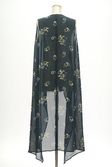 MOUSSY(マウジー)の古着「花柄シアーシフォンカーディガン(カーディガン・ボレロ)」大画像2へ