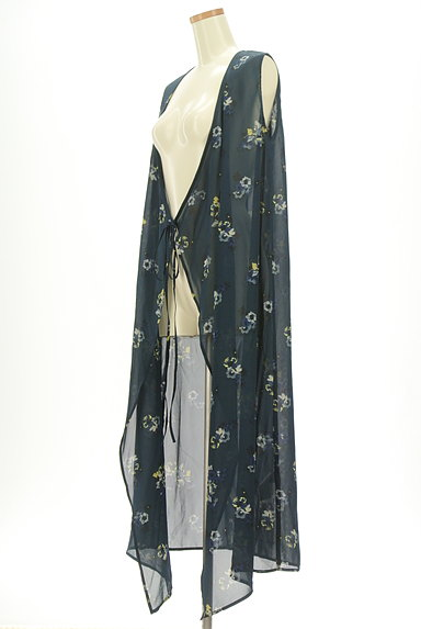 MOUSSY(マウジー)の古着「花柄シアーシフォンカーディガン(カーディガン・ボレロ)」大画像3へ