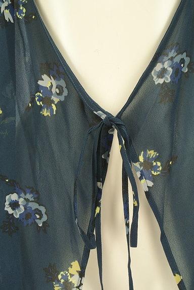 MOUSSY(マウジー)の古着「花柄シアーシフォンカーディガン(カーディガン・ボレロ)」大画像4へ