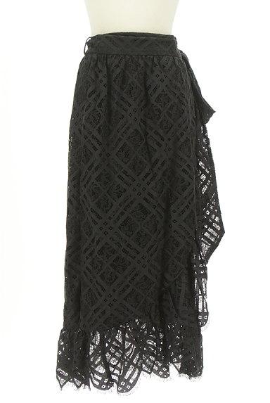 MOUSSY(マウジー)の古着「総レースロングラップスカート(ロングスカート・マキシスカート)」大画像1へ