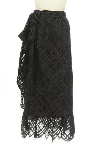 MOUSSY(マウジー)の古着「総レースロングラップスカート(ロングスカート・マキシスカート)」大画像2へ