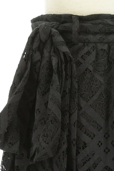 MOUSSY(マウジー)の古着「総レースロングラップスカート(ロングスカート・マキシスカート)」大画像4へ