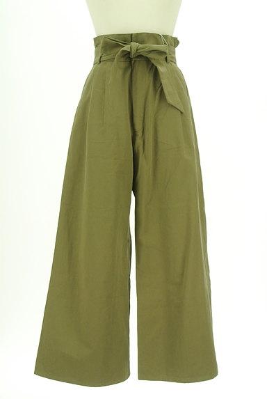 AZUL by moussy(アズールバイマウジー)の古着「ハイウエストリボンワイドパンツ(パンツ)」大画像1へ