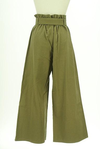 AZUL by moussy(アズールバイマウジー)の古着「ハイウエストリボンワイドパンツ(パンツ)」大画像2へ