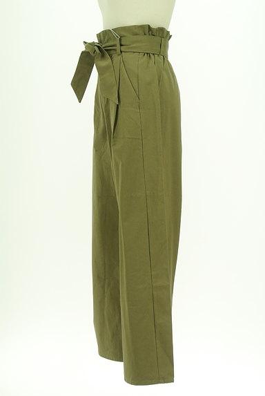AZUL by moussy(アズールバイマウジー)の古着「ハイウエストリボンワイドパンツ(パンツ)」大画像3へ
