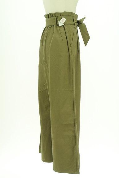 AZUL by moussy(アズールバイマウジー)の古着「ハイウエストリボンワイドパンツ(パンツ)」大画像4へ