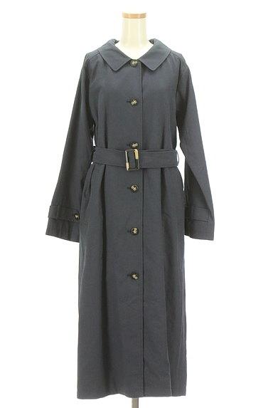 ROSE BUD(ローズバッド)の古着「ベルト付きコットンリネンロングコート(トレンチコート)」大画像1へ