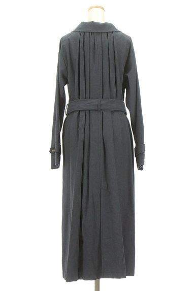 ROSE BUD(ローズバッド)の古着「ベルト付きコットンリネンロングコート(トレンチコート)」大画像2へ