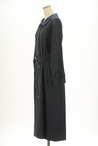 ROSE BUD(ローズバッド)の古着「ベルト付きコットンリネンロングコート(トレンチコート)」大画像3へ
