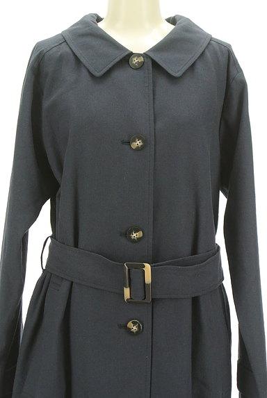 ROSE BUD(ローズバッド)の古着「ベルト付きコットンリネンロングコート(トレンチコート)」大画像4へ