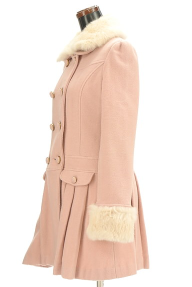 LODISPOTTO(ロディスポット)の古着「衿袖ファー付プリーツロングコート(コート)」大画像3へ