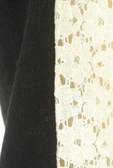 SLOBE IENA(スローブイエナ)の古着「切替花レースバイカラーニット(ニット)」大画像5へ