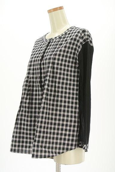 McGREGOR(マックレガー)の古着「チェック柄切替ノーカラーシャツ(カジュアルシャツ)」大画像3へ