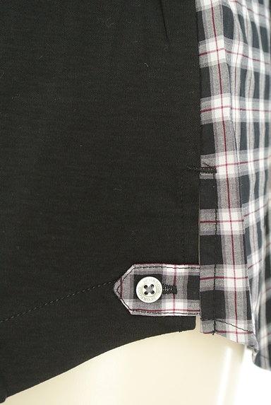 McGREGOR(マックレガー)の古着「チェック柄切替ノーカラーシャツ(カジュアルシャツ)」大画像5へ