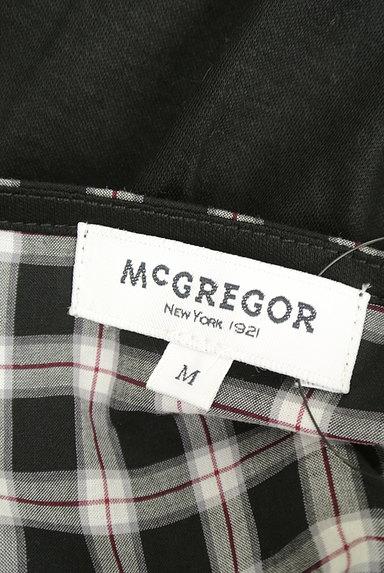 McGREGOR(マックレガー)の古着「チェック柄切替ノーカラーシャツ(カジュアルシャツ)」大画像6へ