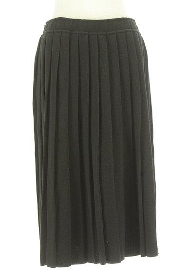 coen(コーエン)の古着「ミモレ丈プリーツニットスカート(ロングスカート・マキシスカート)」大画像1へ