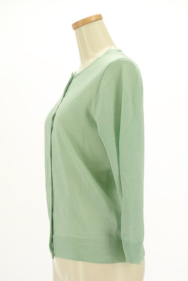 HUMAN WOMAN(ヒューマンウーマン)の古着「シアーニット7分袖カーディガン(カーディガン・ボレロ)」大画像3へ