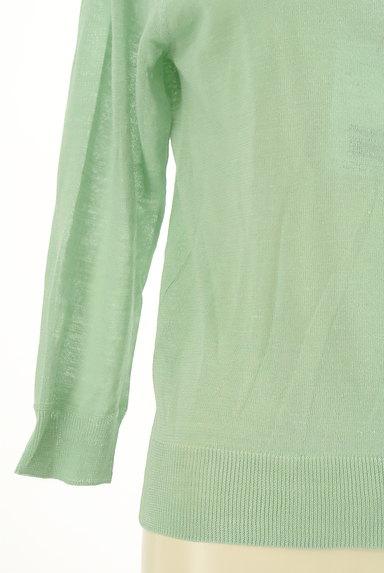 HUMAN WOMAN(ヒューマンウーマン)の古着「シアーニット7分袖カーディガン(カーディガン・ボレロ)」大画像5へ