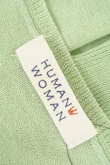 HUMAN WOMAN(ヒューマンウーマン)の古着「シアーニット7分袖カーディガン(カーディガン・ボレロ)」大画像6へ