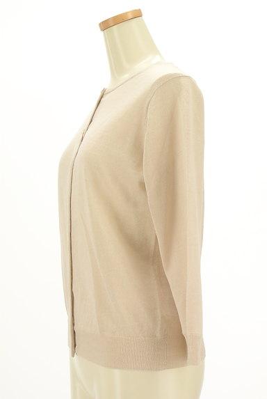 HUMAN WOMAN(ヒューマンウーマン)の古着「ナチュラルリネン7分袖カーディガン(カーディガン・ボレロ)」大画像3へ