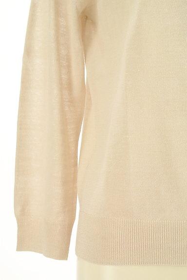 HUMAN WOMAN(ヒューマンウーマン)の古着「ナチュラルリネン7分袖カーディガン(カーディガン・ボレロ)」大画像5へ