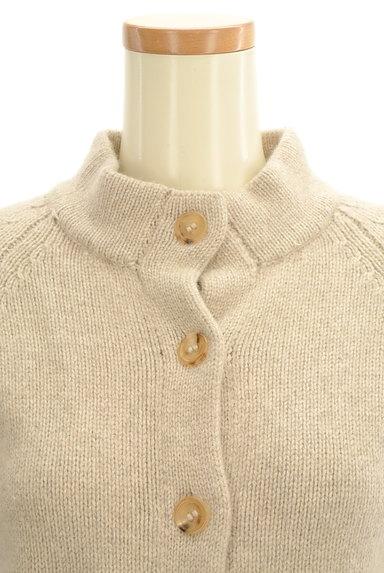 MARGARET HOWELL(マーガレットハウエル)の古着「ハイネック起毛ニットカーディガン(カーディガン・ボレロ)」大画像4へ