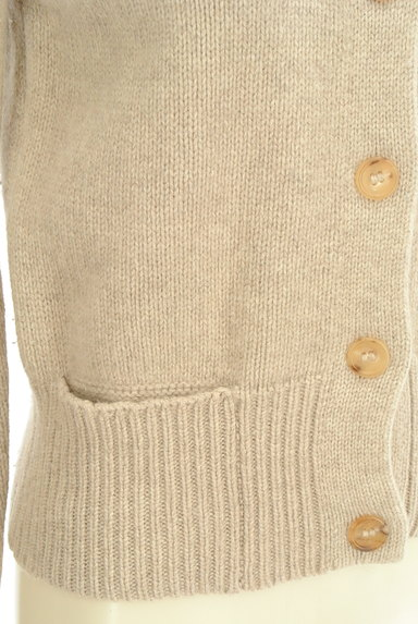 MARGARET HOWELL(マーガレットハウエル)の古着「ハイネック起毛ニットカーディガン(カーディガン・ボレロ)」大画像5へ