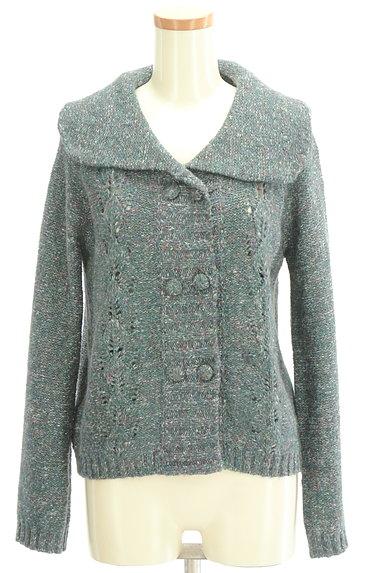 Jocomomola(ホコモモラ)の古着「ミックス糸襟付きニットカーディガン(カーディガン・ボレロ)」大画像1へ