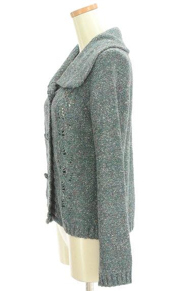 Jocomomola(ホコモモラ)の古着「ミックス糸襟付きニットカーディガン(カーディガン・ボレロ)」大画像3へ