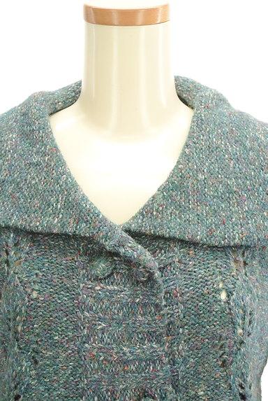 Jocomomola(ホコモモラ)の古着「ミックス糸襟付きニットカーディガン(カーディガン・ボレロ)」大画像4へ