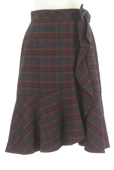 Feroux(フェルゥ)の古着「サイドリボンフリルペプラムスカート(スカート)」大画像1へ