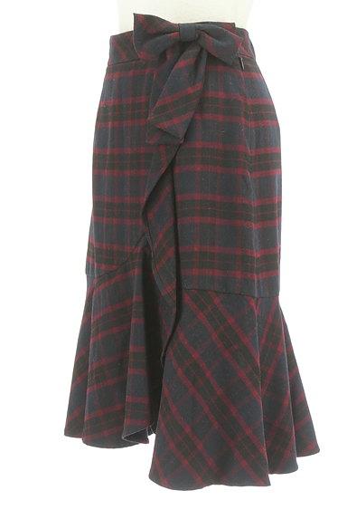 Feroux(フェルゥ)の古着「サイドリボンフリルペプラムスカート(スカート)」大画像3へ